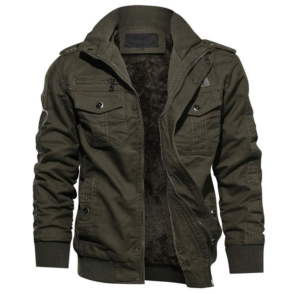 TIFIY Wintermantel Jacke Herbst Milit/är Parka Sweatshirt Sweat Outwear Draussen Strickjacke Sport Umhang Solide Tunika Pullover M-6XL