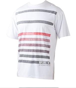 Rip Curl Camisa de Rayas Surf Lycra para Hombre, Hombre, Blanco: Amazon.es: Deportes y aire libre