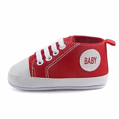 b71ed86f5dbbe Amazon.com | Fine Fine Newborn Infant Baby Boys Girls Solid Canvas ...