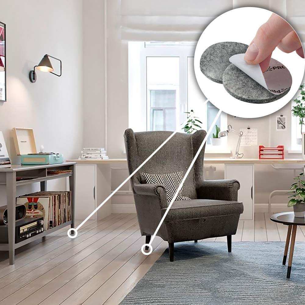 Almohadillas de fieltro 235 piezas -Todos los tama/ños de fieltro autoadhesivo para muebles Fieltro adhesivo X-PROTECTOR /¡Protege tus pisos de madera! Protectores de piso premium para muebles