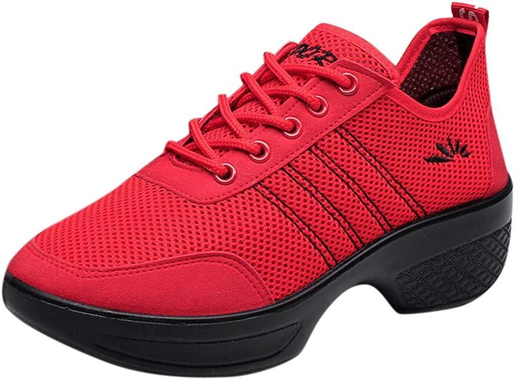ZOELOVE Zapatillas de Running para Mujer Correr Zapatillas de Deporte de Primavera y Verano Gimnasio Zapatos Casuales Ligeros Individuales cómodos Baile Aumente la Danza Fondo Suave
