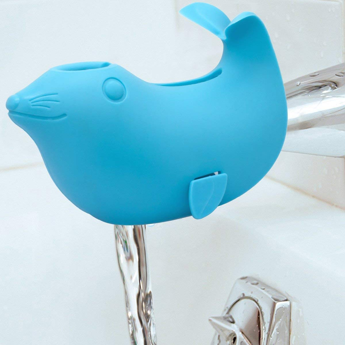 APANDA Baby Protect Bath Spout Cover Universal Fit,Blue Seal