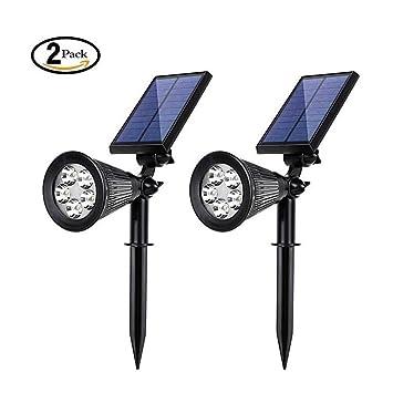 Réglable Pack Led 2 Solaire Lumières Extérieure180 ° De Projecteur H9IYWD2E