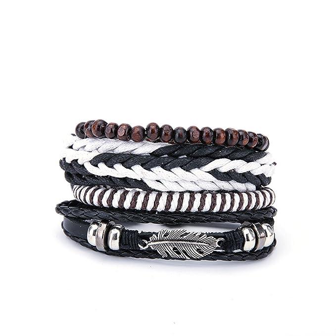 Damen Armband, EUZeo Frauen mehrschichtigen handgefertigten Armreif ...