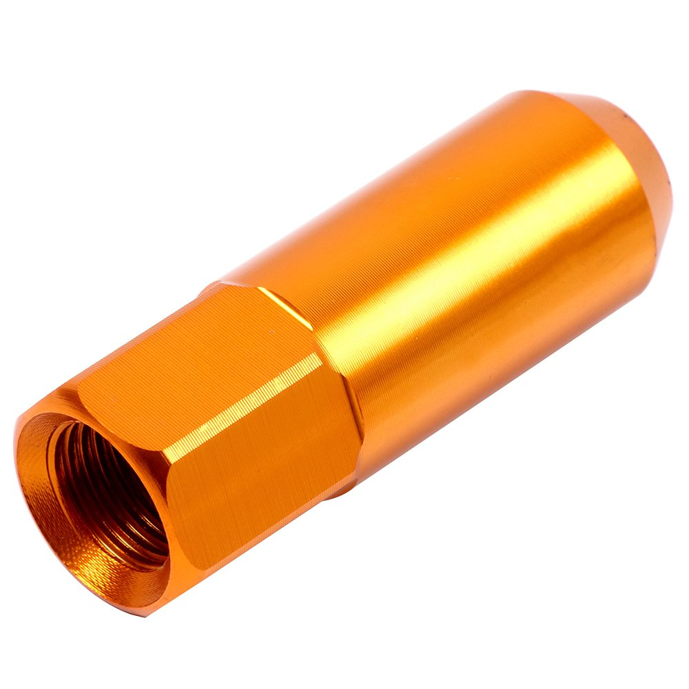 ECCPP Replacement for Wheel Lug Nuts M12X1.5 Cap Spiked Extended Tuner 60mm Aluminum Lug Nut 20pcs Red