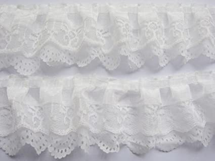 Triple Layered Pleat Gathered Organza Lace choose Colour