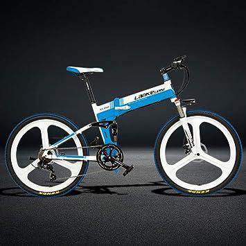 YRWJ Marco De 26 Pulgadas Plegable Eléctrica De La Bici De 48V De Aluminio para Hombre