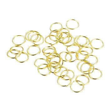 NBEADS - Anillos de hierro, 1000 g, sin soldadura, sin níquel, dorado