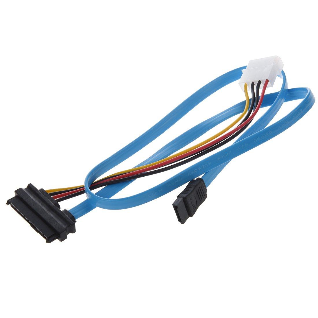 Amazon.com: TOOGOO(R) 7 Pin SATA to SAS 29 Pin & 4 Pin Connector ...