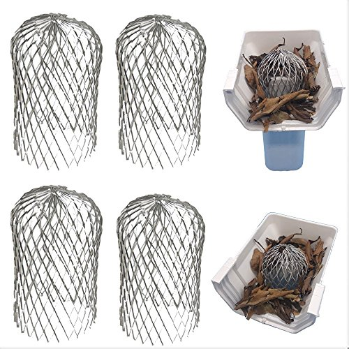 Gutter Guard 3 Inch Expand Aluminum Filter Strainer. Stops Blockage Leaves Debris. Pack Of 4. By Massca (Aluminum 3 inch) 3 Screen Protector Guard
