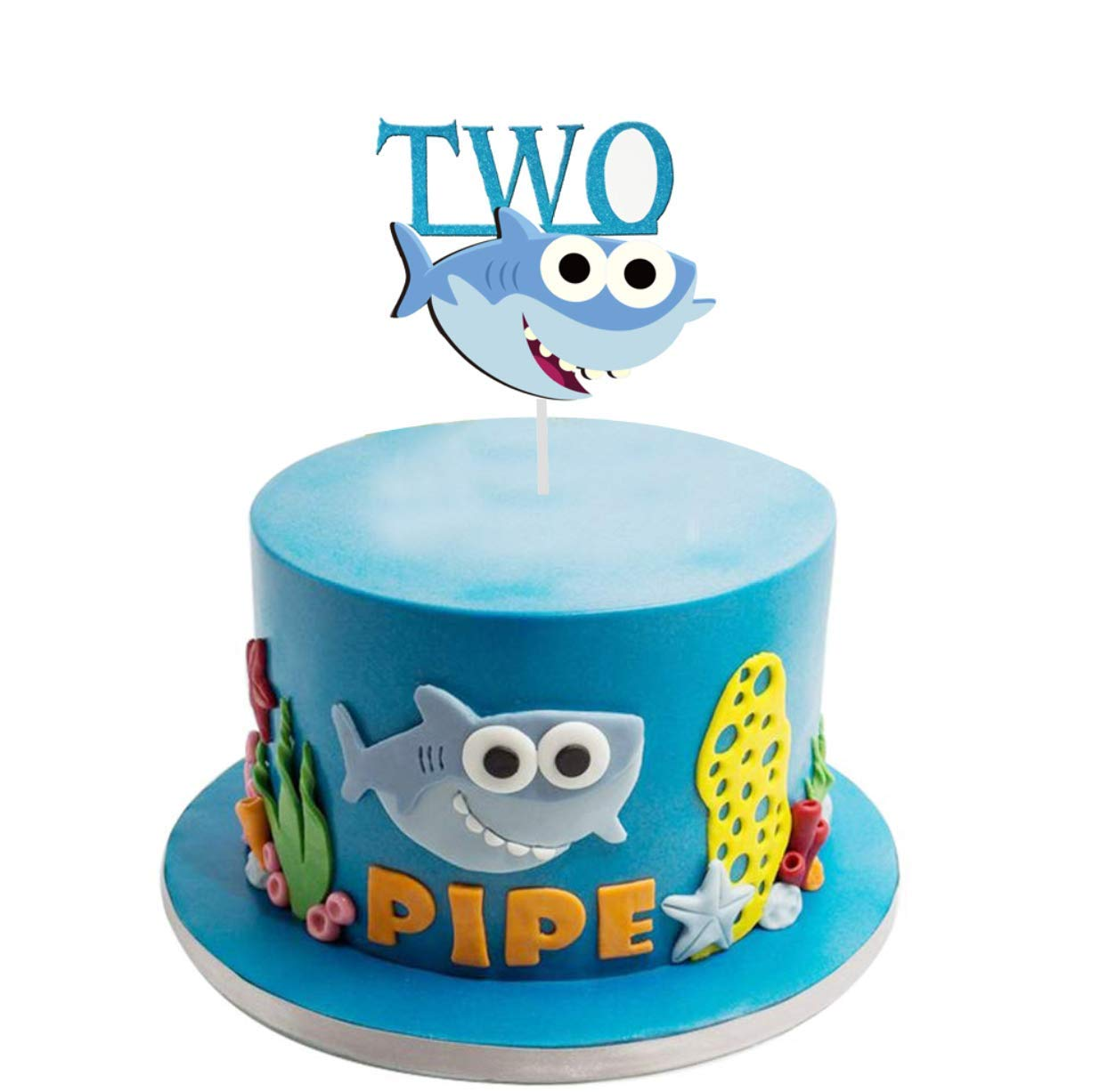 Fine Amazon Com Baby Shark One Birthday Cake Topper For 1St First Funny Birthday Cards Online Unhofree Goldxyz