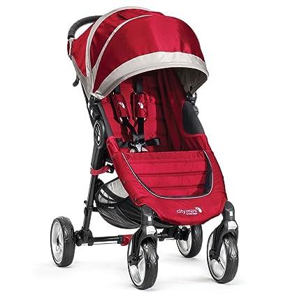 Baby Jogger City Mini 4 - Silla de paseo, color rojo/gris