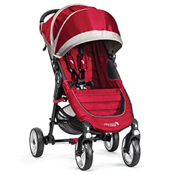 Baby Jogger City Mini 4 - Silla de paseo, color rojo/gris: Amazon.es: Bebé