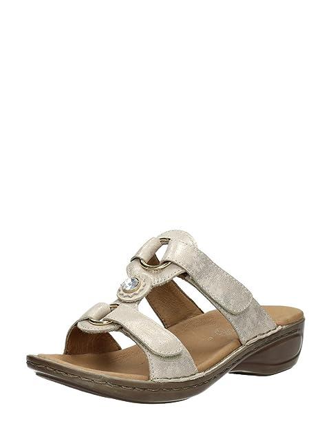 ara - Zapatillas de Estar por casa de Piel para Mujer Dorado * Target_Attribute_Value, Color Dorado, Talla 36 EU: Amazon.es: Zapatos y complementos