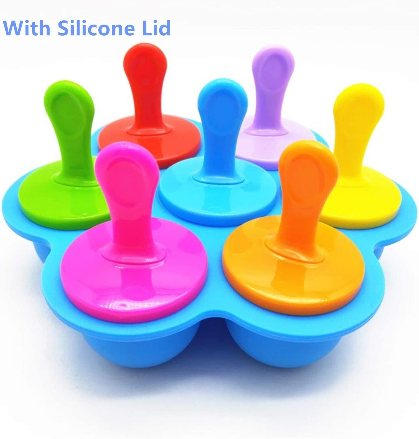 Popsicle Molds Silicone Ice Pop Molds Maker with Lids Sticks and Drip Catcher Frozen DIY Popsicle Trays Reusable Easy Release Ice Pop Maker No Drip Food Storage Container