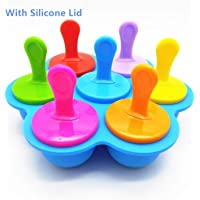 Popsicle Molds & Silicone Egg Bites Molds with Lids Sticks and Drip Catcher Frozen Ice Pop Molds Reusable Easy Release Ice Pop Maker No Drip for Men and Women