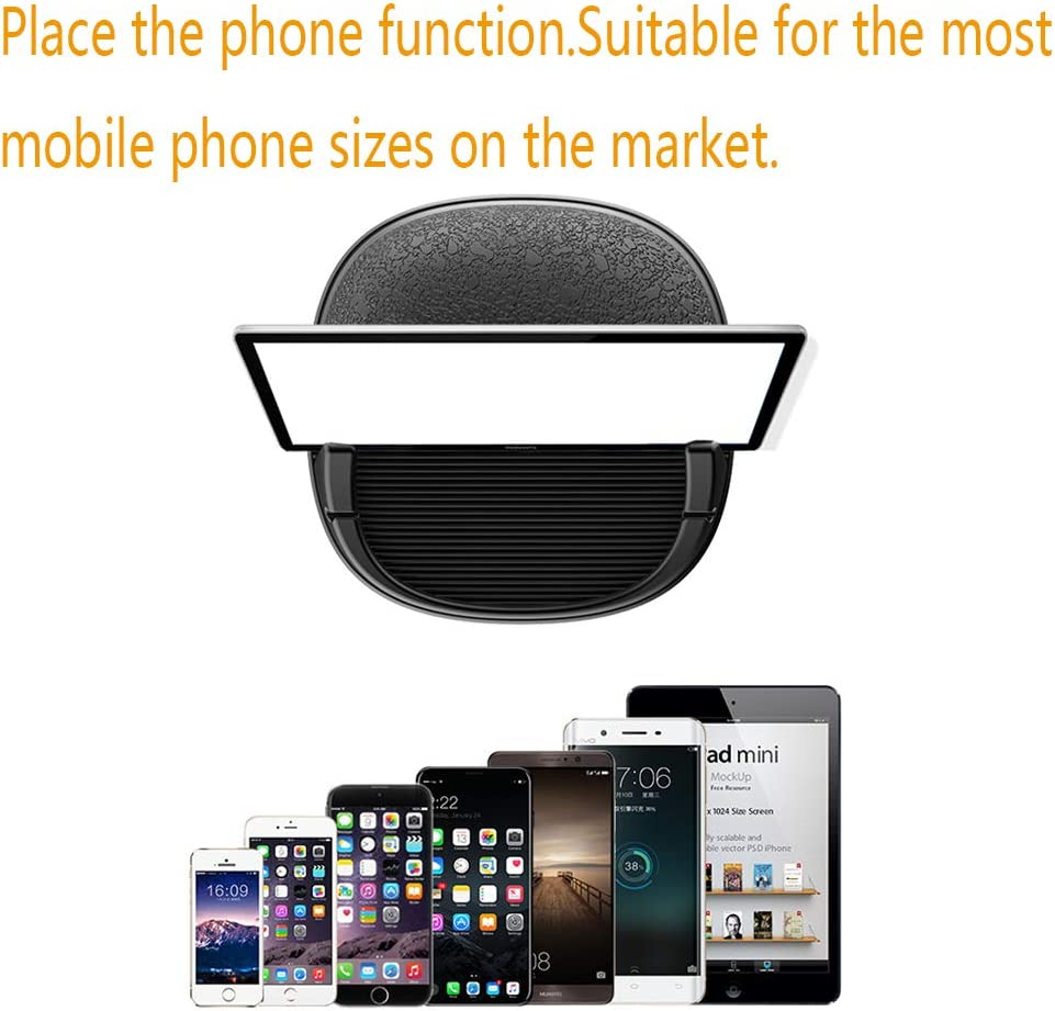 Android Smartphones Anti-Slip HandFree Car iPhone Mounts Car Phone Dashboard Pad Mat GPS Devices Car Accessories Cell Phone Holder Compatible with Samsung KHTONE Cell Phone Holder for Car