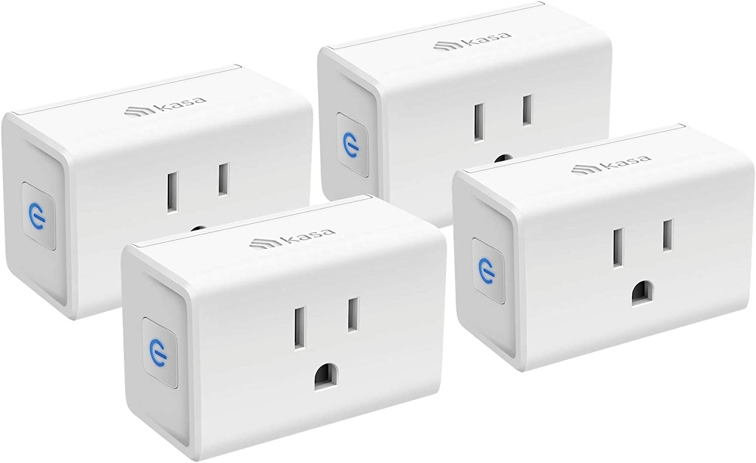 Kasa Smart Plug Mini 15A, Smart Home Wi-Fi Outlet Works with Alexa, Google Home & IFTTT, No Hub Required, UL Certified, 2.4G WiFi Only, 4-Pack(EP10P4)