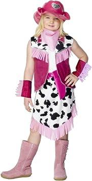 NET TOYS Disfraz de Vaquera para niña Vestuario Oeste Traje ...