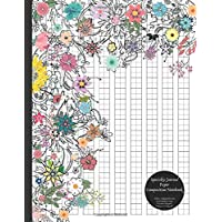 Specialty Journal Paper Composition Notebook (Flower) Genkouyoushi / Kanji Grid (Quadrant) Pages To Practice Hiragana, Katakana, & Genkoyoshi: ... Japanese Kana Horizontal Lettering Practice