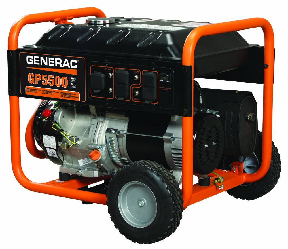 Amazon.com : Generac 5939 GP5500 5500 Running Watts/6875 Starting Watts Gas  Powered Portable Generator : Garden & Outdoor
