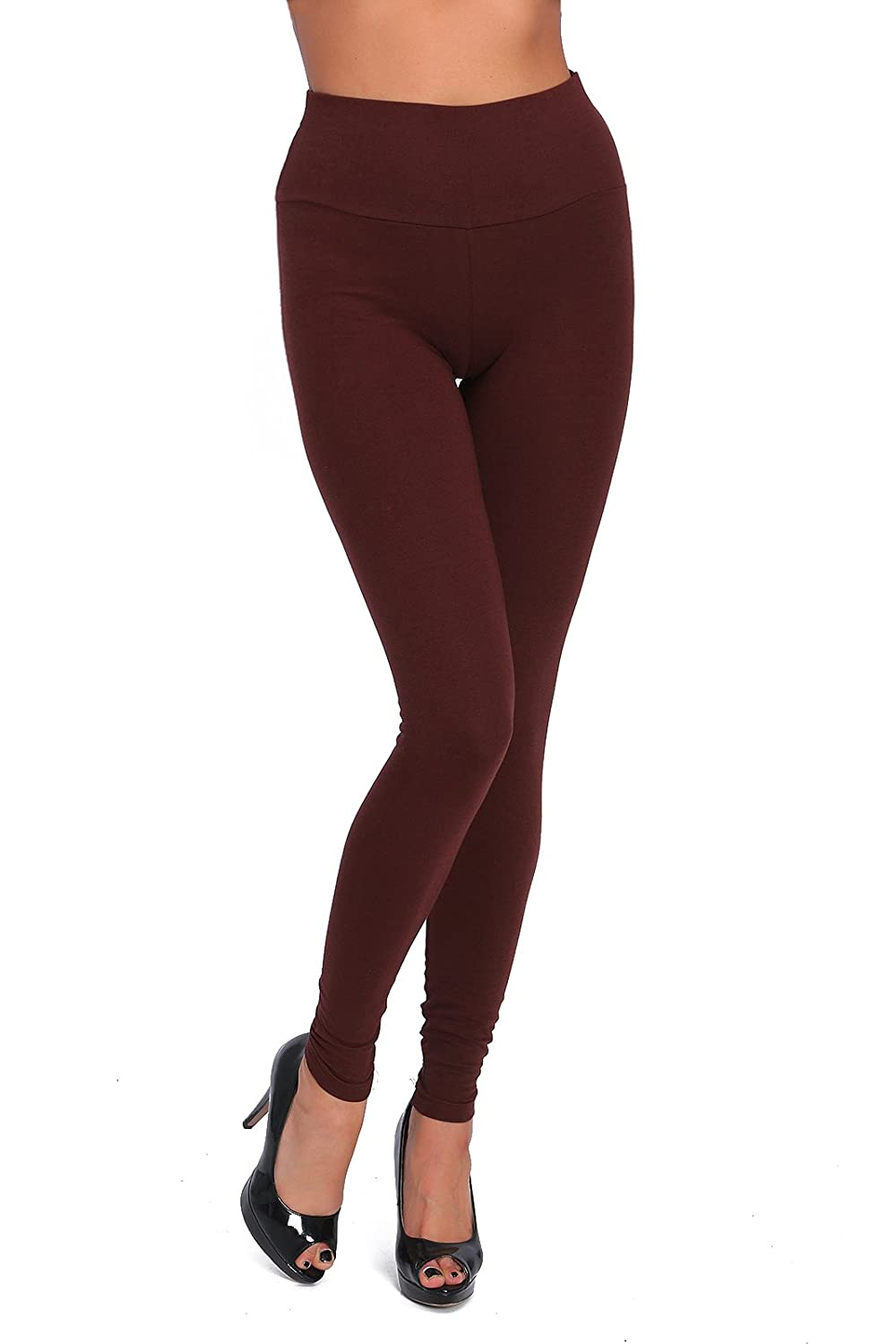 FUTURO FASHION High Waisted Leggings Full Length Plus Sizes LWP