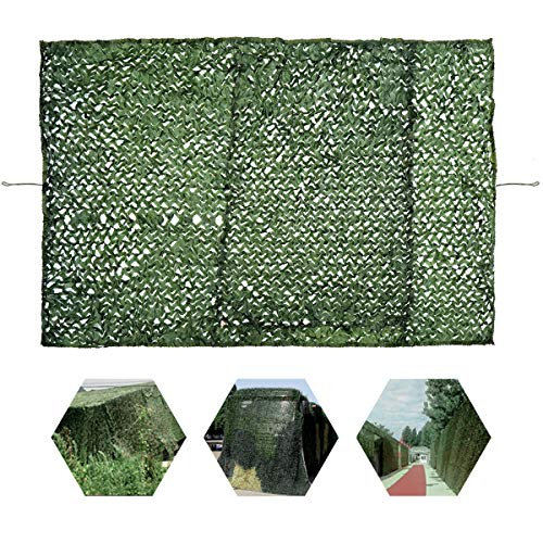 OUTERDO Woodland Green Army Net, 6.6ft x 10ft Camouflage Netting Military Desert Camo Netting Camping Hunting Shooting Blind Sunscreen Netting Camouflage Party Decoration on Halloween Christmas