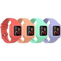 TiMOVO Correa de Reloj Compatible con Garmin Vivofit jr 3, [4 pcs] Banda de Reloj Respirable y Reemplazable, Pulsera…