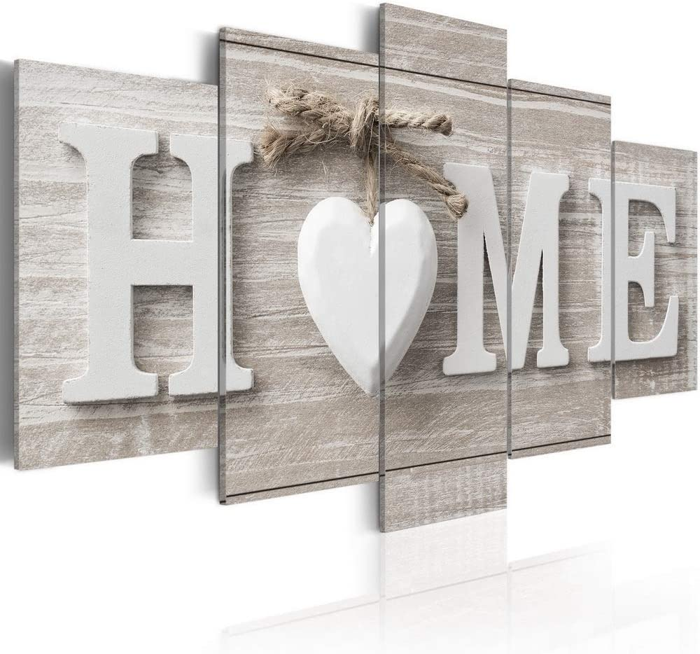 Love Sanctuary Canvas Print Wall Art White Home Sweet Heart Modern Decor Abstract Painting Artwork
