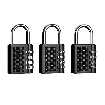 Archivadores Maleta de Equipaje,Cerraduras de Equipaje 2 Piezas Candado de Seguridad en con Combinaci/ón 4-D/ígitos Ideal para Puerta de Verja Lockers Caja de Herramientas