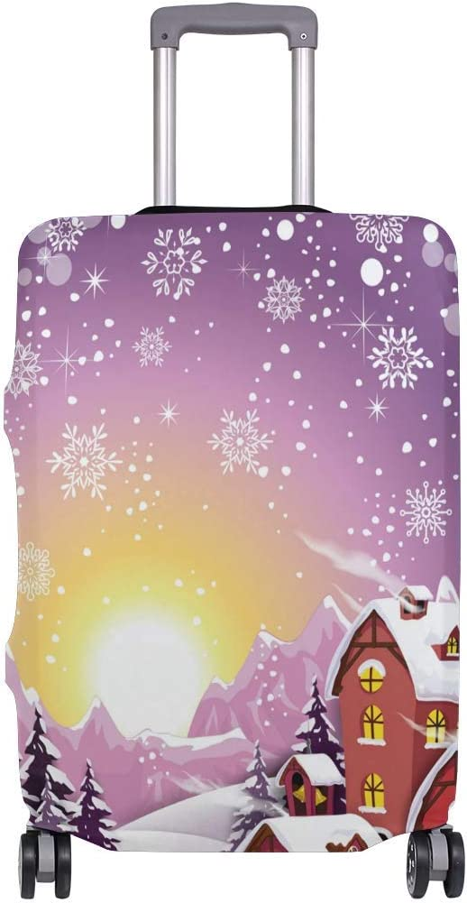 Sunrise Village Snowy Winter Travelers Choice Travel Equipaje con Ruedas giratorias Maleta con Equipaje de 24 Pulgadas