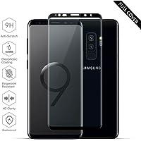 Samsung Galaxy S9 Plus Panzerglas, Beyeah Vollständige Abdeckung Schutzfolie aus hochwertigem gehärtetem Glas für Samsung Galaxy S9 Plus (Schwarz)