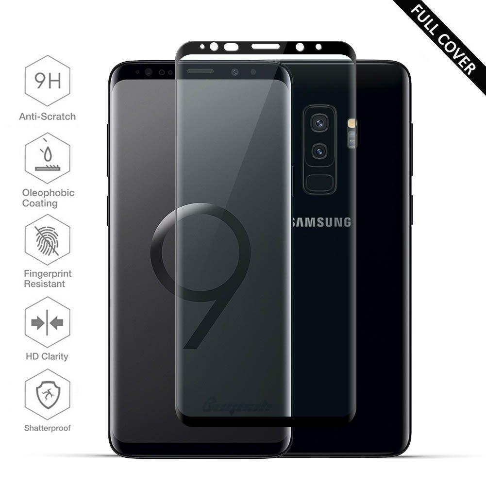 Protectores de Pantalla Samsung Galaxy S9 Plus, Beyeah Full Películas de Protección Completa Vidrio Templado [ Bordes curvados ] Cristal Film protectora HD ...