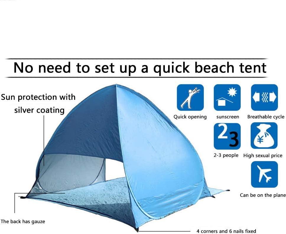 LFF TENT Pop up Tiendas instantánea portátil para 2-3 Personas automático instantánea Playa Carpa Impermeable Anti UV Camping Carpa jardín Camping Picnic de Pesca Vacaciones pink