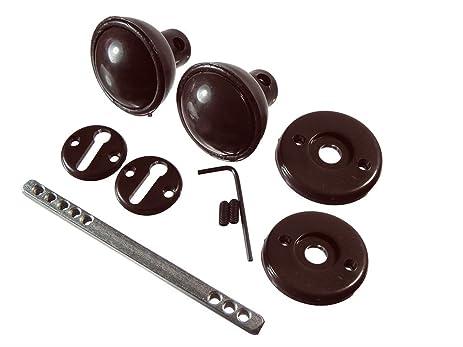 Cerraduras de madera puerta del botón Set Con husillo y fijación de Brown Paquete De 16