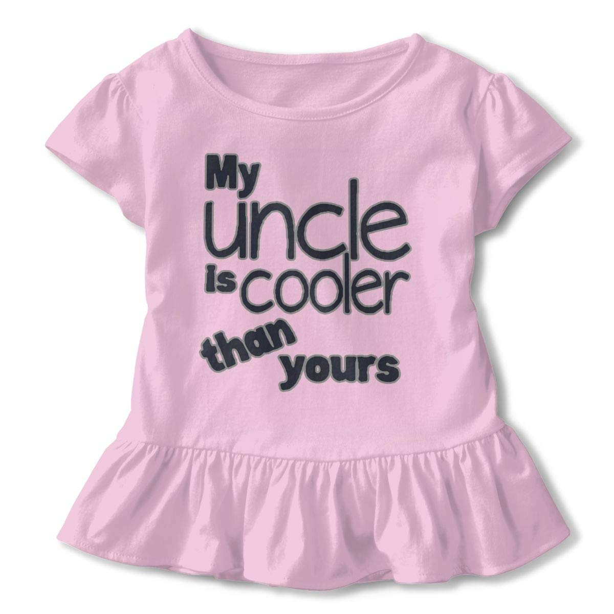 NMDJC CCQ My Uncle is Cooler Than Yours Baby Skirts Adorable Kids T Shirt Dress Comfortable Flounces Outfits