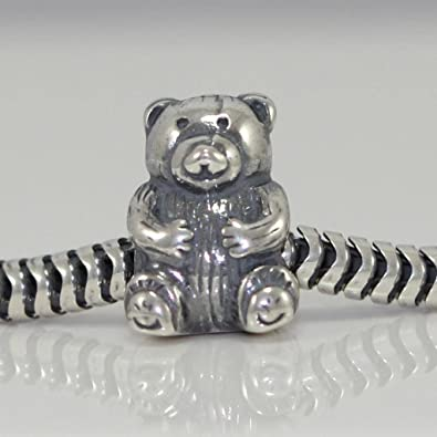 0c4b5427a Image Unavailable. Image not available for. Color: Teddy Bear Charm Bead  925 Sterling Silver Charm Fits Pandora ...