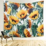 ARFBEAR Sunflower Tapestry, Forever Wall Hanging Warm Golden Yellow and Green Wall and Home Decor 59x51 Inches (Medium)