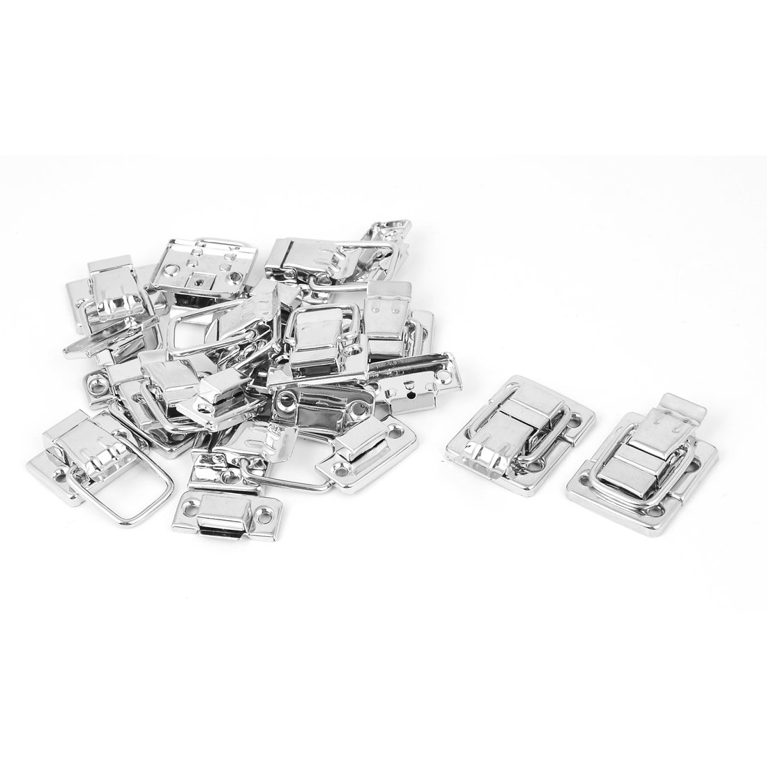 Uxcell a16010500ux0085 Toggle Latch Stainless steel Toggle Latch Clasp Silver Tone 12 Pcs For Box Suitcase