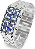 iMounTEK Lava LED Digital Watch with Anti-shock, Scratch Resistance, 12HR and 24HR Time Modes - Silver