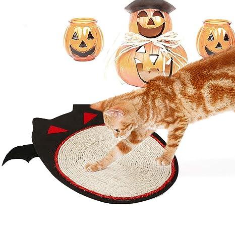 Roblue Alfombra de para Arena de Gato Forma para murciélagos de baño Alfombra Halloween Impermeable al