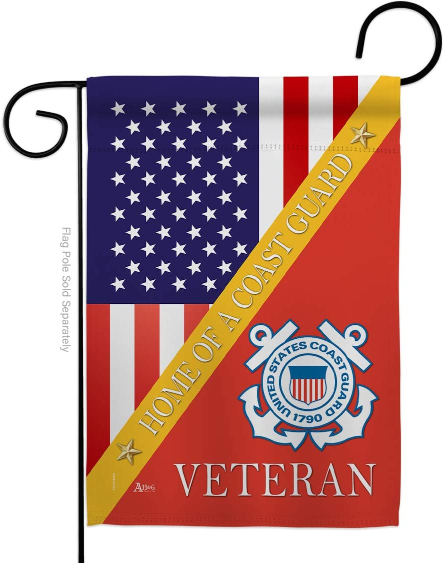 Home of Coast Guard Garden Flag - Armed Forces USCG Semper Paratus United State American Military Veteran Retire Official - House Banner Small Yard Gift Double-Sided Made in USA 13 X 18.5