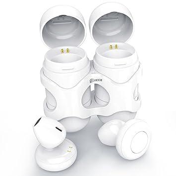 Mini Bluetooth auriculares inalámbricos auricular, ejiker Dual estéreo CSR cancelación de ruido in-Ear con micrófono auricular inalámbrico Bluetooth V4.2 ...