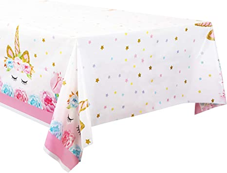 Unicorn Plastic Tablecloth Disposable Table Cover For Birthday Party Decoration