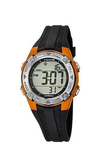 Calypso – Reloj Digital Unisex con Esfera LCD Pantalla Digital y Negro Correa de plástico K5685