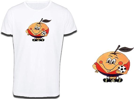 MERCHANDMANIA Camiseta Tacto ALGODÓN Naranjito Mascota Mundial ESPAÑA Cotton Touch Tshirt: Amazon.es: Ropa y accesorios