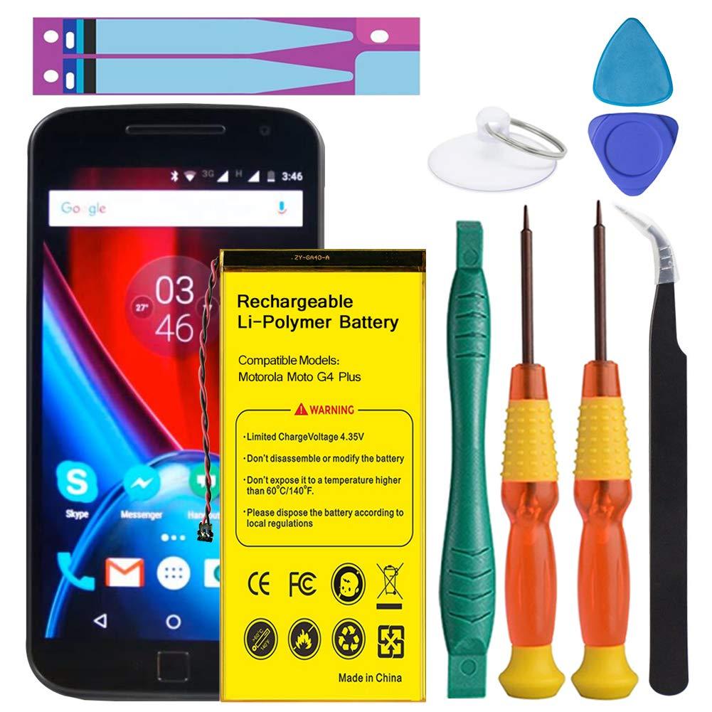 Motorola G4 Plus Battery, Euhan 3200mAh Replacement Battery for Motorola Moto G4 Plus GA40, XT1641 XT1642 XT1643 XT1644 SNN5966A SNN5970A +Repair Replacement Kit Tools [12 Month Warranty]
