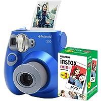 Câmera Polaroid instantânea PIC 300 Azul c/filme 30 poses