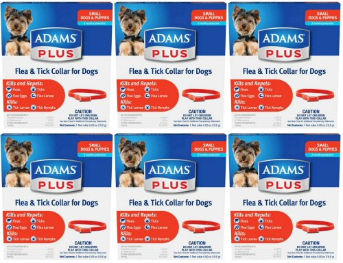 Adams Plus Flea & Tick Collar for Small Dogs 6pk by Adams