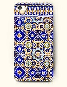 SevenArc Apple iPhone 5 5S Case Moroccan Pattern ( Blue and Orange Geometry )